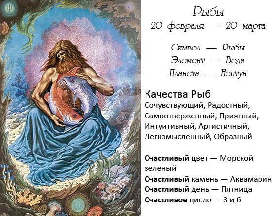 Описание гороскопа зодиака рыбы
