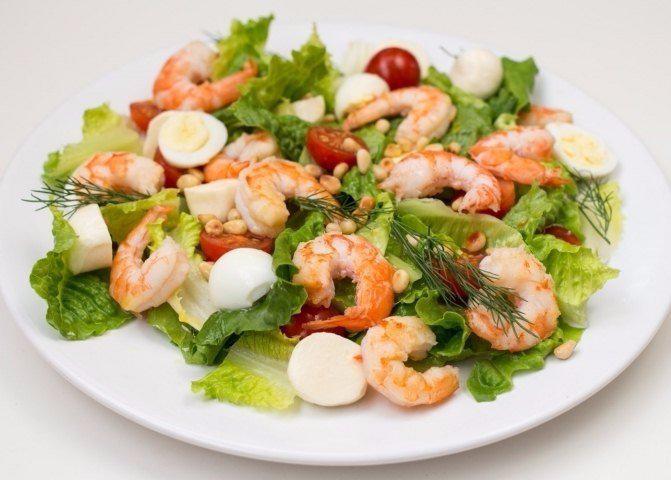 Салат с креветками для беременных 48