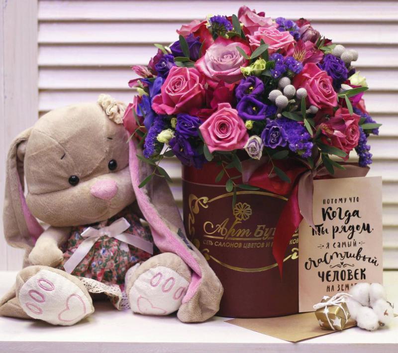 предлагается подборка фото цветов для подарка на день рождения доступную