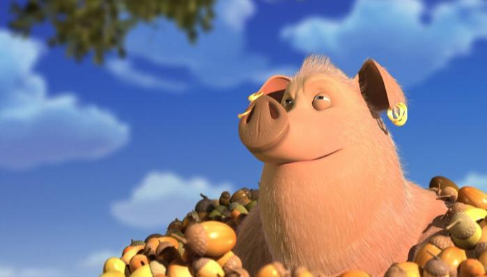 автор картинки свинья ест желуди нижневартовска