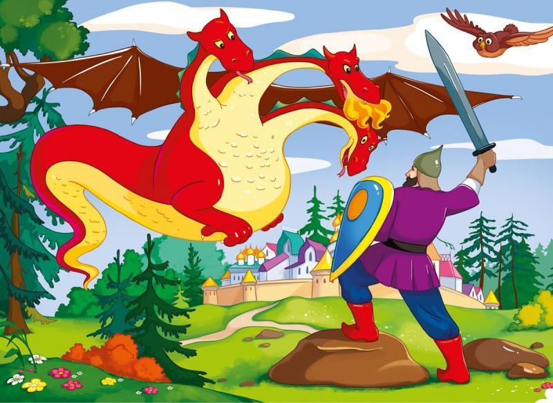 Змей горыныч картинки русских сказок