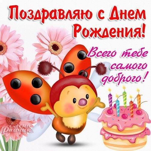 Симпатичные поздравления с днем рождения 854
