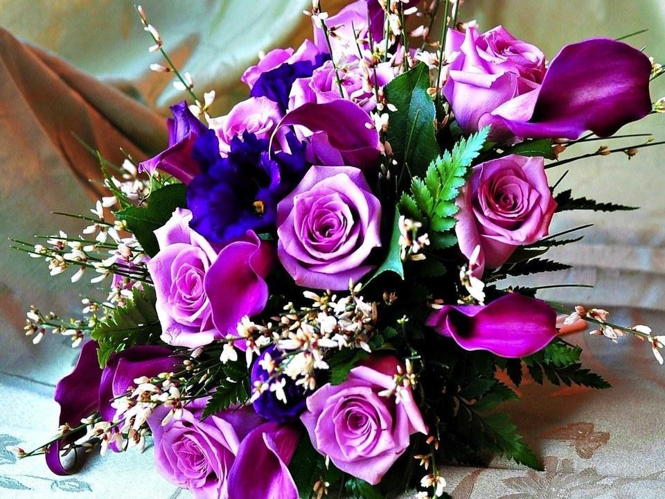 Открытки с днем рождения женщине красивые живые цветы
