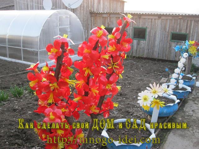 Цветы из пластиковых бутылок. Белые колокольчики