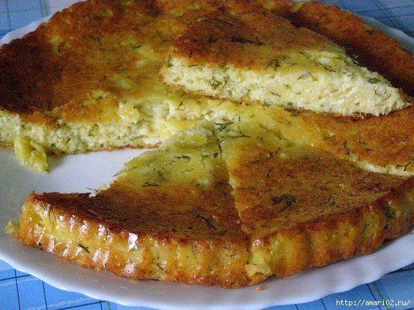 Пирог на кефире с сыром в духовке рецепт с пошагово в