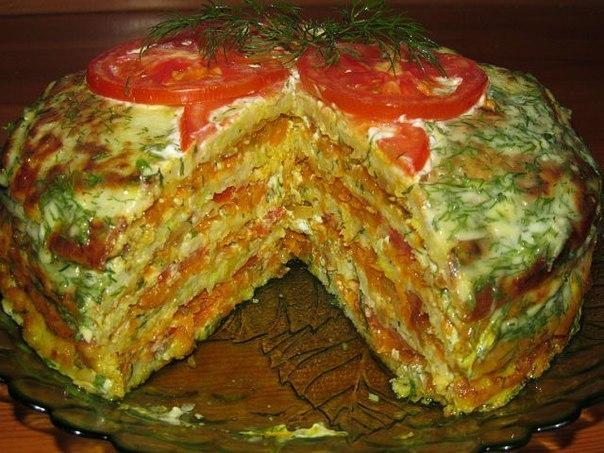Вкуснейший тортик из кабачков - Кулинарные рецепты